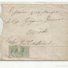 Francobolli: CIRCULADA 1895 DE LA HABANA CUBA A EL CASTAÑAL SALAS OVIEDO ASTURIAS. Lote 265466824