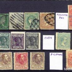 Selos: FICHA CON SELLOS DE ULTRAMAR. Lote 265651029