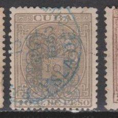 Sellos: 1883 CUBA ALFONSO XII HABILITADOS SERIE TIPO A. 70 €. VER. Lote 266129783