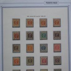 Sellos: COLONIAS ESPAÑOLAS - PUERTO RICO - EDIFIL Nº 130/49 NUEVOS * CON FIJASELLOS - 5 FOTOS. Lote 267429644