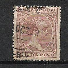Sellos: ESPAÑA PUERTO RICO 1890 EDIFIL 78 USADO - 2/40. Lote 268799844