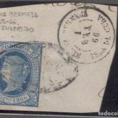 Sellos: 14 CUBA FRAGMENTO CON FECHADOR DE NUEVA BERMEJA 1/ FEB./66 MES INVERTIDO. Lote 270360788