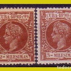 Francobolli: CUBA 1898 ALFONSO XIII, EDIFIL Nº 155 Y 156 * *. Lote 273913153
