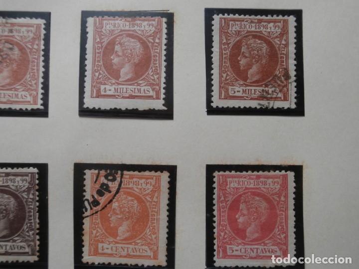 Sellos: ESPAÑA - PRIMER CENTENARIO - COLONIAS - ALFONSO XIII - PUERTO RICO 1898 EDIFIL 130/149. - Foto 4 - 275286273