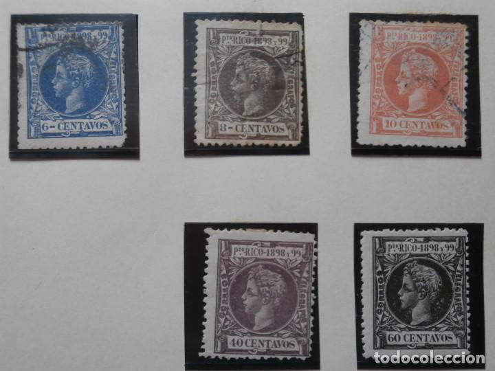 Sellos: ESPAÑA - PRIMER CENTENARIO - COLONIAS - ALFONSO XIII - PUERTO RICO 1898 EDIFIL 130/149. - Foto 6 - 275286273
