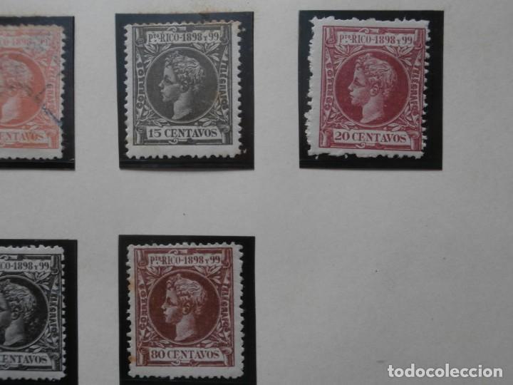 Sellos: ESPAÑA - PRIMER CENTENARIO - COLONIAS - ALFONSO XIII - PUERTO RICO 1898 EDIFIL 130/149. - Foto 8 - 275286273