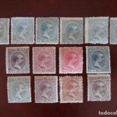 Sellos: ESPAÑA PRIMER CENTENARIO - COLONIAS - ALFONSO XIII - CUBA 1896-1897 - EDIFIL 140/153 - COMPLETA -.. Lote 276124493