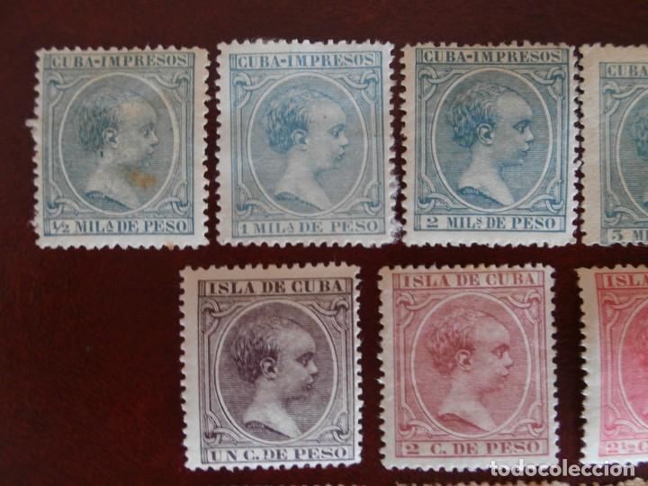 Sellos: ESPAÑA PRIMER CENTENARIO - COLONIAS - ALFONSO XIII - CUBA 1896-1897 - EDIFIL 140/153 - COMPLETA -. - Foto 2 - 276124493