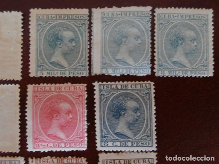 Sellos: ESPAÑA PRIMER CENTENARIO - COLONIAS - ALFONSO XIII - CUBA 1896-1897 - EDIFIL 140/153 - COMPLETA -. - Foto 4 - 276124493