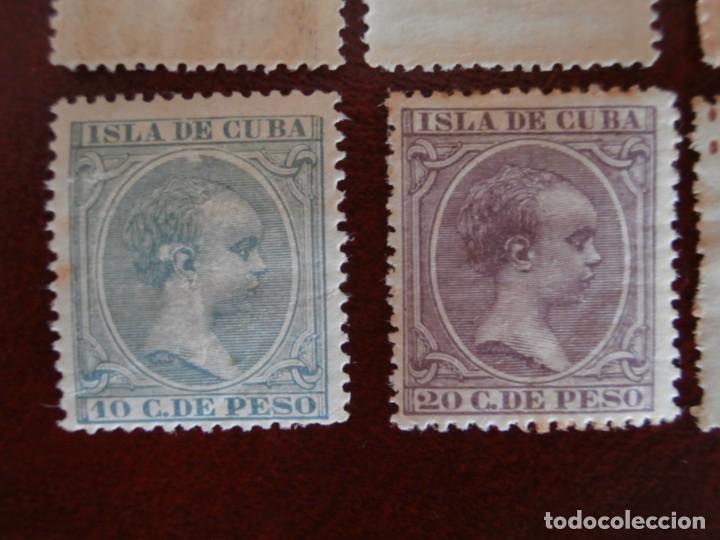 Sellos: ESPAÑA PRIMER CENTENARIO - COLONIAS - ALFONSO XIII - CUBA 1896-1897 - EDIFIL 140/153 - COMPLETA -. - Foto 6 - 276124493