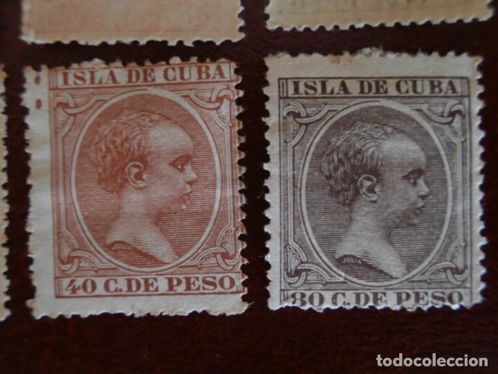 Sellos: ESPAÑA PRIMER CENTENARIO - COLONIAS - ALFONSO XIII - CUBA 1896-1897 - EDIFIL 140/153 - COMPLETA -. - Foto 8 - 276124493