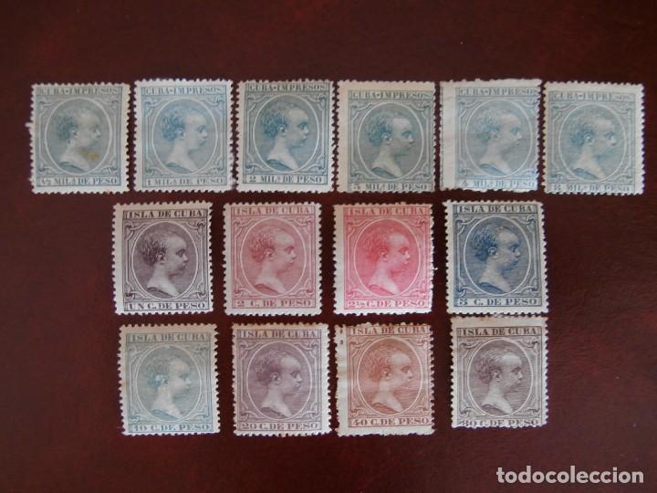 Sellos: ESPAÑA PRIMER CENTENARIO - COLONIAS - ALFONSO XIII - CUBA 1896-1897 - EDIFIL 140/153 - COMPLETA -. - Foto 10 - 276124493