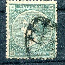 Sellos: EDIFIL 14 DE ANTILLAS ESPAÑOLAS. 20 CTS AÑO 1868. USADO. Lote 276143488