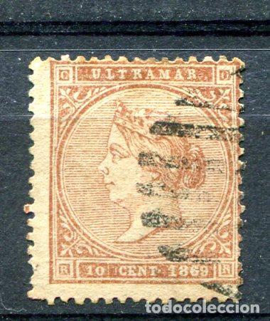 EDIFIL 16 DE ANTILLAS ESPAÑOLAS. 10 CTS AÑO 1869. MATASELLADO (Sellos - España - Colonias Españolas y Dependencias - América - Antillas)