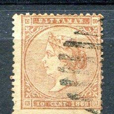 Sellos: EDIFIL 16 DE ANTILLAS ESPAÑOLAS. 10 CTS AÑO 1869. MATASELLADO. Lote 276143908
