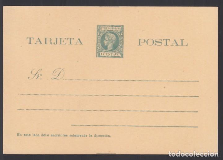 PUERTO RICO, TARJETA POSTAL. 1898 EDIFIL Nº 10, SIN CIRCULAR (Sellos - España - Colonias Españolas y Dependencias - América - Puerto Rico)