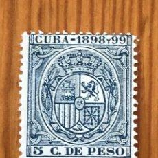 Sellos: CUBA, 1898 Y 99, 5 CENTIMOS, NUEVO **. Lote 276658453
