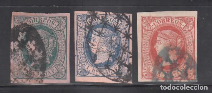 CUBA, 1864 EDIFIL Nº ANT. 10, 11, 12, (Sellos - España - Colonias Españolas y Dependencias - América - Cuba)