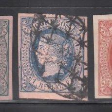 Sellos: CUBA, 1864 EDIFIL Nº ANT. 10, 11, 12,. Lote 276813023