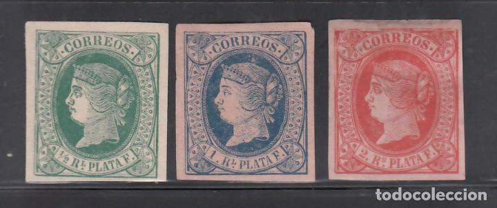 ANTILLAS, 1864 EDIFIL Nº 10, 11, 12, (*) (Sellos - España - Colonias Españolas y Dependencias - América - Antillas)
