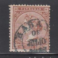 Sellos: CUBA, 1868 EDIFIL Nº ANT. 16, MAT. FECHADOR HABANA, COLOR AZUL. Lote 276940698