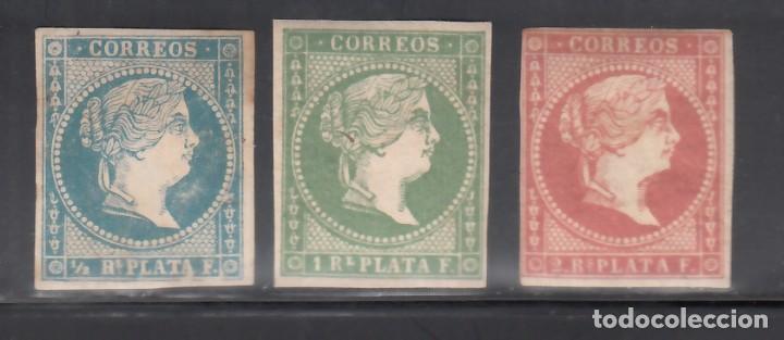 ANTILLAS. 1857 EDIFIL Nº 7, 8, 9, /*/ (Sellos - España - Colonias Españolas y Dependencias - América - Antillas)