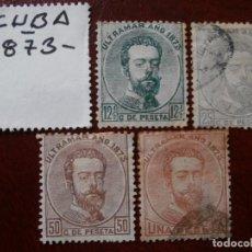 Sellos: ESPAÑA PRIMER CENTENARIO - CUBA 1873 EDIFIL- 26 - Y - ANTILLAS 1873 EDIFIL - 25/27. Lote 278801373