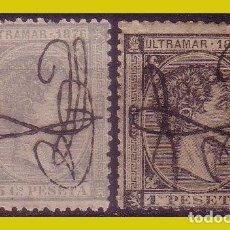 Sellos: PUERTO RICO 1876 ALFONSO XII, EDIFIL Nº 11 Y 12 (*). Lote 285131088