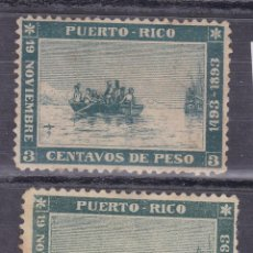 Sellos: BB4- CLÁSICOS COLONIAS PUERTO RICO EDIFIL 101* + 101F (*). Lote 286909483