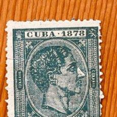 Sellos: CUBA, 1878, ALFONSO XII, EDIFIL 47, NUEVO CON FIJASELLOS. Lote 286926883