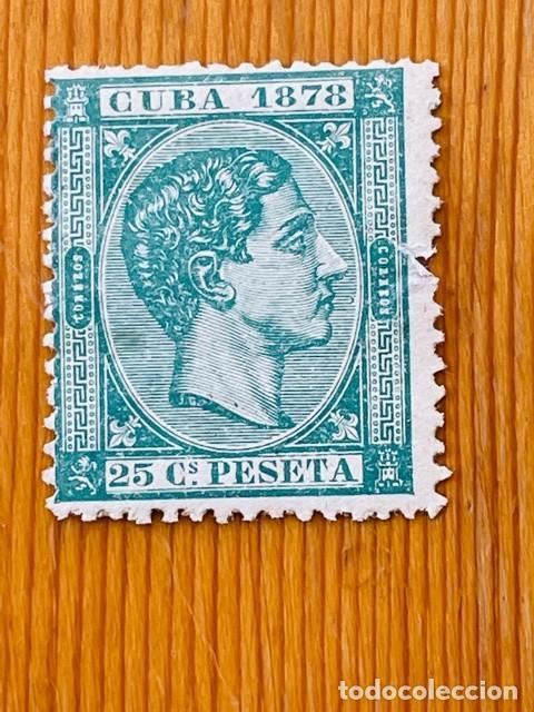 CUBA, 1878, ALFONSO XII, EDIFIL 47, NUEVO CON FIJASELLOS (Sellos - España - Colonias Españolas y Dependencias - América - Cuba)
