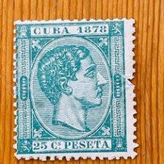 Sellos: CUBA, 1878, ALFONSO XII, EDIFIL 47, NUEVO CON FIJASELLOS. Lote 286927038