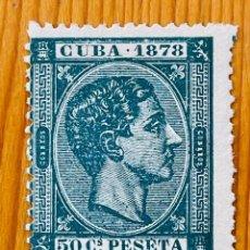 Sellos: CUBA, 1878, ALFONSO XII, EDIFIL 48, NUEVO SIN GOMA. Lote 286927158