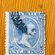 Sellos: CUBA, 1894, ALFONSO XIII, EDIFIL 136, USADO. Lote 286929553