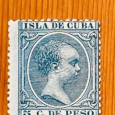 Sellos: CUBA, 1896-1897, ALFONSO XIII, EDIFIL 149, NUEVO CON FIJASELLOS. Lote 286931288