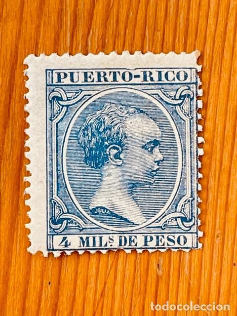 PUERTO RICO, 1891-1892, ALFONSO XIII, EDIFIL 89, NUEVO CON FIJASELLOS (Sellos - España - Colonias Españolas y Dependencias - América - Puerto Rico)