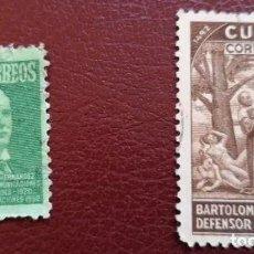 Sellos: LOTE 2 SELLOS 1944 Y 1952 USADO. Lote 287062123