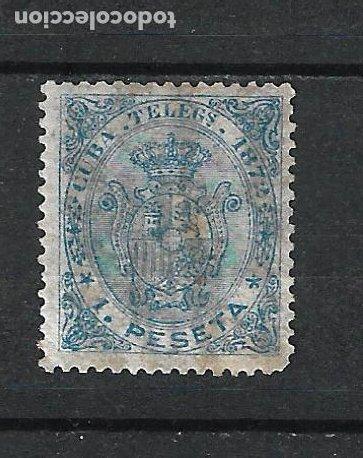 ESPAÑA CUBA TELEGRAFOS 1872 EDIFIL 22 * MH - 15/24 (Sellos - España - Colonias Españolas y Dependencias - América - Cuba)