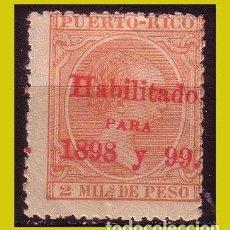 Sellos: PUERTO RICO 1898 ALFONSO XIII HABILITADOS, EDIFIL Nº 154 *. Lote 288362083
