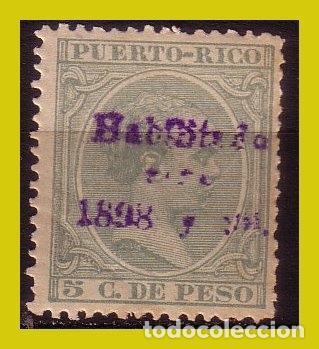 PUERTO RICO 1898 ALFONSO XIII HABILITADOS, EDIFIL Nº 166 * * (Sellos - España - Colonias Españolas y Dependencias - América - Puerto Rico)