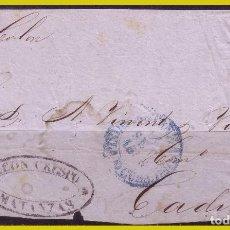 Sellos: CUBA 1856 FRONTAL DE CARTA DE MATANZAS A CÁDIZ CON SELLO Nº 4 (O). Lote 288378203