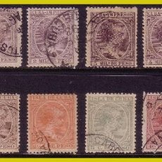 Sellos: CUBA 1891 ALFONSO XIII, EDIFIL Nº 118 A 129 (O) COMPLETA. Lote 288379633