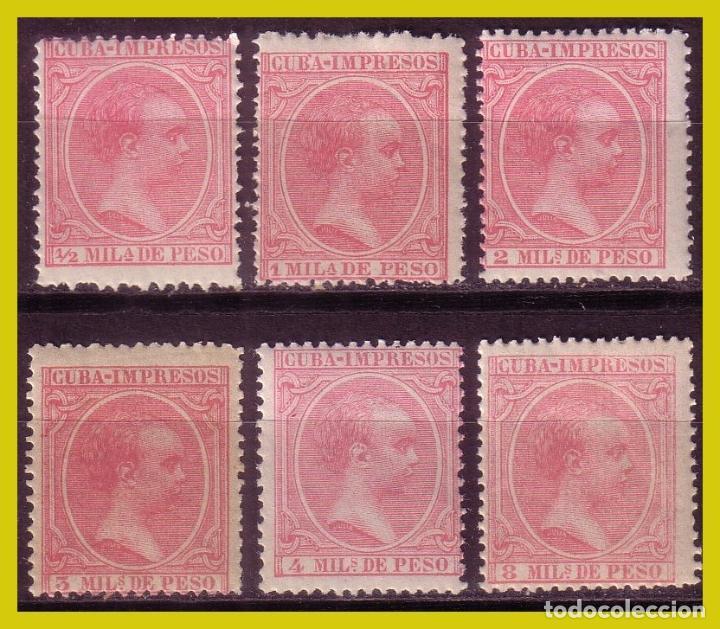 CUBA 1894 ALFONSO XIII, EDIFIL Nº 130 A 135 * * (Sellos - España - Colonias Españolas y Dependencias - América - Cuba)