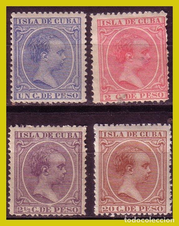 CUBA 1894 ALFONSO XIII, EDIFIL Nº 136 A 139 * (Sellos - España - Colonias Españolas y Dependencias - América - Cuba)