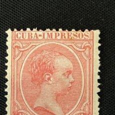Sellos: CUBA, 1894, ALFONSO XIII, EDIFIL 131, NUEVO. Lote 292571008