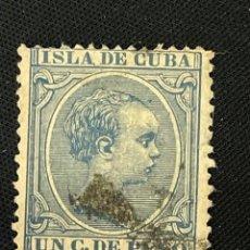 Sellos: CUBA, 1894, ALFONSO XIII, EDIFIL 136, USADO. Lote 292571438