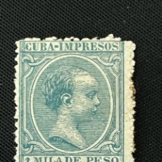 Sellos: CUBA, 1896-1997, ALFONSO XIII, EDIFIL 141, NUEVO CON FIJASELLOS. Lote 292572898