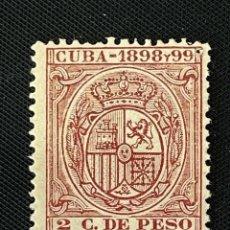 Sellos: CUBA, 1898-99, ESCUDO DE ESPAÑA, 2 CT. DE PESO, NUEVO. Lote 292573668