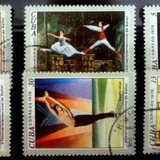 Sellos: SELLOS CUBA 1976 - FOTO 518- SERIE COMPLETA. Lote 293246078