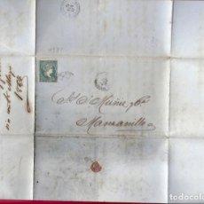 Sellos: CUBA. AÑO 1864. CARTA .. Lote 295380643